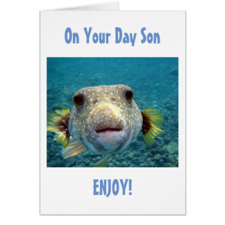 SON ENJOY, RELAX AND KNOW YOU ARE LOVED BIRTHDAY CARD