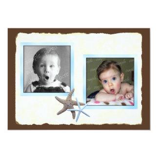Son et son faire-part de mariage de photo de bébé carton d'invitation  12,7 cm x 17,78 cm