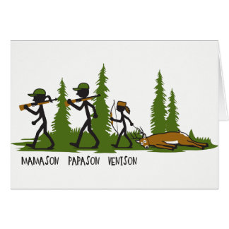 Son Family Hunting Note Card