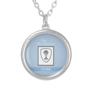 Son, First Communion Silver Chalice Silver Plated Necklace