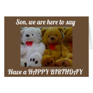 ***SON*** HAVE A FUN AND HAPPY BIRTHDAY!!!! CARD