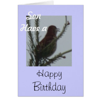 Son Have a Happy Birthday Card