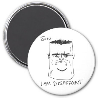 Son I Am Disappoint Father Rage Comic Meme 3 Inch Round Magnet
