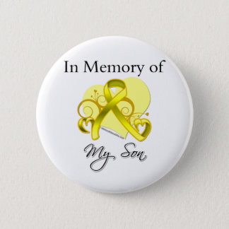Son - In Memory of Military Tribute 2 Inch Round Button
