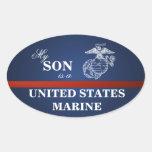 Son is a Marine Oval Sticker