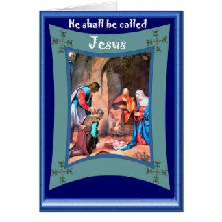 Son nom est Jésus Carte De Vœux