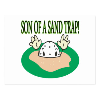 Son Of A Sand Trap Postcard