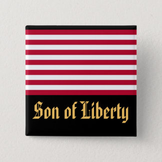 Son of Liberty 2 Inch Square Button