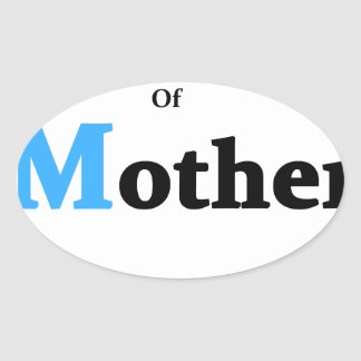 Son Of Mother Nature Oval Sticker