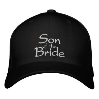 Son of the Bride Embroidered Wedding Cap Embroidered Hat