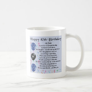 Son Poem  - 40th Birthday Design Coffee Mug