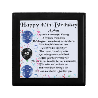 Son Poem  - 40th Birthday Design Gift Box