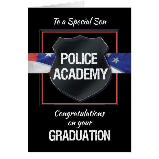 Son, Police Academy Graduation Congratulations Card