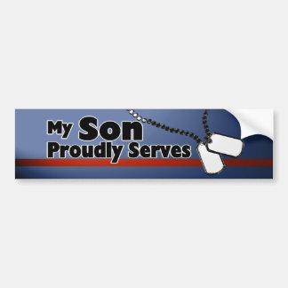 Son Proudly Serves Bumper Sticker