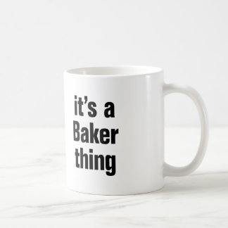 son une chose de boulanger mug blanc