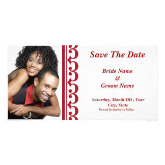 Sonata Red/White Save The Date Photo Card
