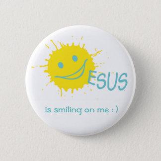 Sonburst Jesus Button