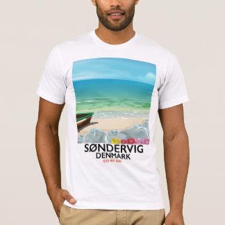 Søndervig Denmark beach travel poster T-Shirt