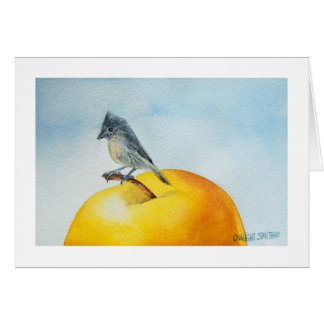 """ SONG BIRD WITH APPLE "" CARD"