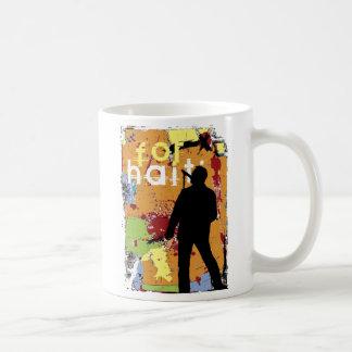 song for haiti, hope for haiti now basic white mug