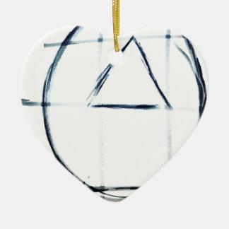 Song Line Ceramic Ornament