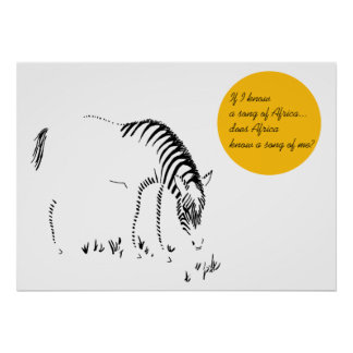 Song of Africa with Zebra Poster