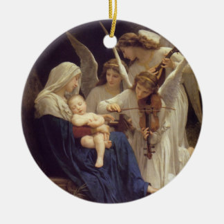 Song of Angels Round Ceramic Ornament
