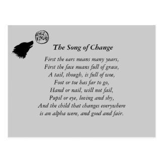 song of change postcard