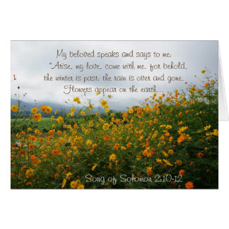 Song of Solomon 2:10-12, Bible Verse, Flowers Card