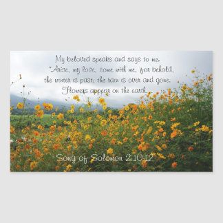 Song of Solomon 2:10-12, Bible Verse, Flowers Sticker