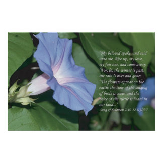 Song of Solomon 2 10-12 Scripture Print