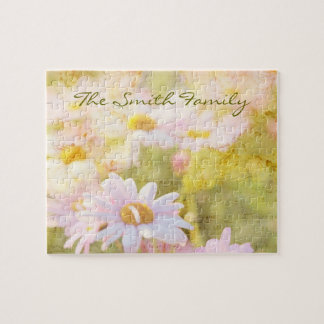 Song of Spring I - Lovely Pale Pink Daisies Asters Jigsaw Puzzle