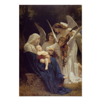 'Song of the Angels' by Bouguereau Poster