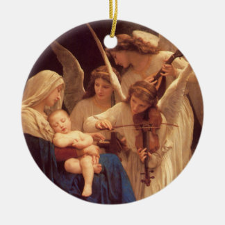 Song of the Angels Round Ceramic Ornament