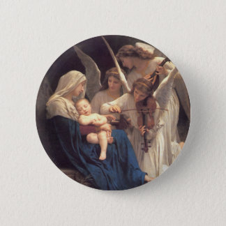 Song of the Angels - William-Adolphe Bouguereau 2 Inch Round Button