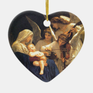 Song of the Angels, William-Adolphe Bouguereau Ceramic Ornament