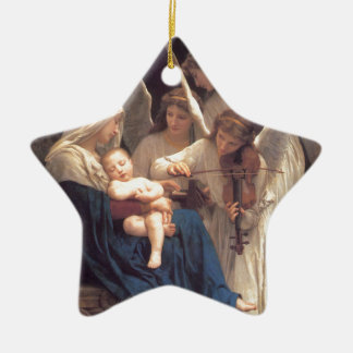 Song of the Angels - William-Adolphe Bouguereau Ceramic Star Ornament