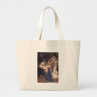 Song of the Angels - William-Adolphe Bouguereau Large Tote Bag