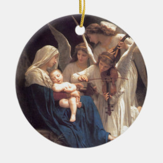 Song of the Angels - William-Adolphe Bouguereau Round Ceramic Ornament