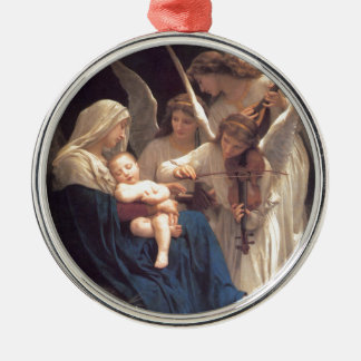 Song of the Angels - William-Adolphe Bouguereau Silver-Colored Round Ornament