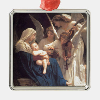 Song of the Angels - William-Adolphe Bouguereau Silver-Colored Square Ornament
