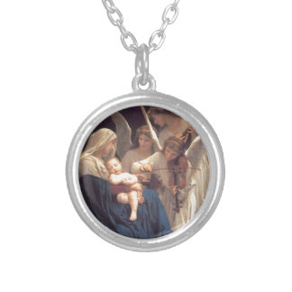 Song of the Angels - William-Adolphe Bouguereau Silver Plated Necklace