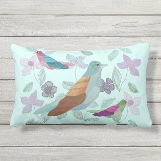 Song of the Bird Outdoor Pillow