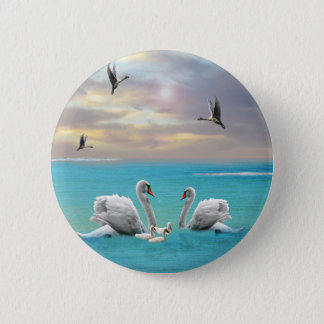 Song Of The White Swan, 2 Inch Round Button
