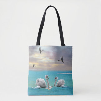 Song Of The White Swan, Tote Bag