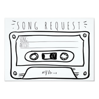 Song request wedding RSVP Insert card Cassette