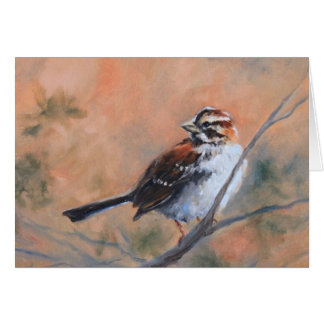 Song Sparrow Fine Art Greeting Card