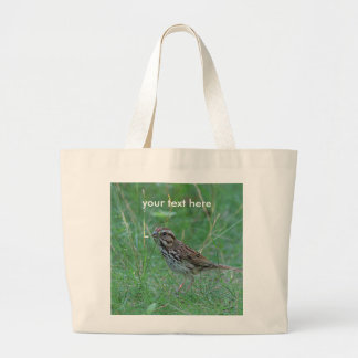 Song Sparrow Large Tote Bag