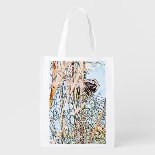 Song Sparrow Reusable Bag Grocery Bags