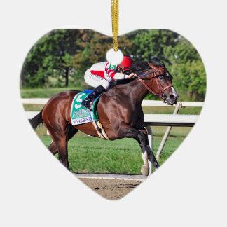 Songbird Ceramic Heart Ornament